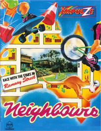 Box cover for Neighbours on the Commodore 64.