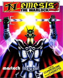 Box cover for Nemesis the Warlock on the Commodore 64.