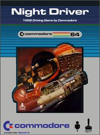 Box cover for Night Driver on the Commodore 64.