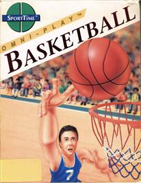Box cover for Omni-Play Basketball on the Commodore 64.