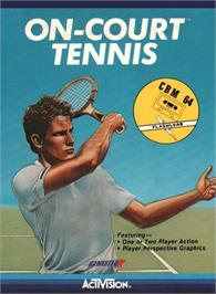 Box cover for On-Court Tennis on the Commodore 64.
