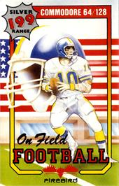 Box cover for On Field Football on the Commodore 64.