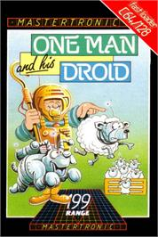 Box cover for One Man and His Droid on the Commodore 64.