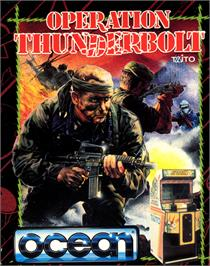 Box cover for Operation Thunderbolt on the Commodore 64.