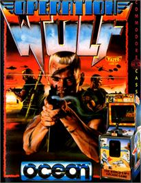 Box cover for Operation Wolf on the Commodore 64.
