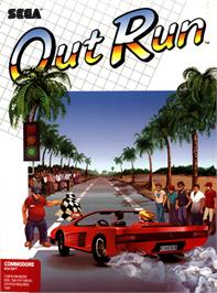 Box cover for OutRun on the Commodore 64.