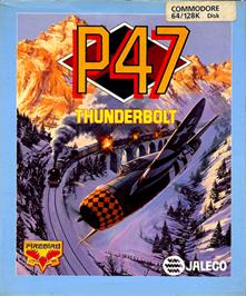 Box cover for P-47 Thunderbolt: The Freedom Fighter on the Commodore 64.