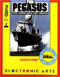 Box cover for PHM Pegasus on the Commodore 64.