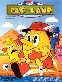 Box cover for Pac-Land on the Commodore 64.