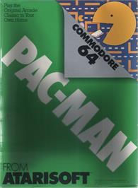 Box cover for Pac-Man on the Commodore 64.