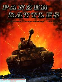 Box cover for Panzer Battles on the Commodore 64.