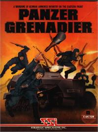 Box cover for Panzer Grenadier on the Commodore 64.