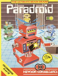 Box cover for Paradroid on the Commodore 64.