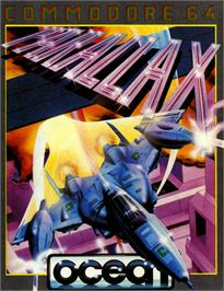Box cover for Parallax on the Commodore 64.