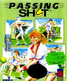Box cover for Passing Shot on the Commodore 64.