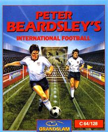 Box cover for Peter Beardsley's International Football on the Commodore 64.