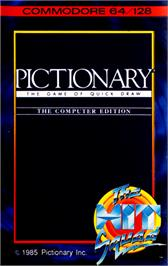 Box cover for Pictionary on the Commodore 64.