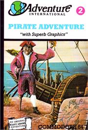 Box cover for Pirate Adventure on the Commodore 64.