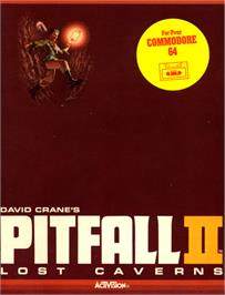 Box cover for Pitfall II: Lost Caverns on the Commodore 64.