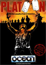 Box cover for Platoon on the Commodore 64.
