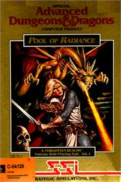 Box cover for Pool of Radiance on the Commodore 64.