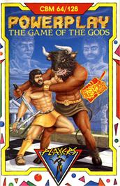 Box cover for Powerplay: The Game of the Gods on the Commodore 64.