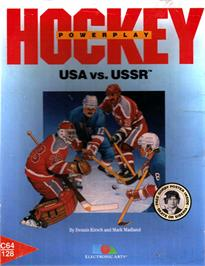 Box cover for Powerplay Hockey on the Commodore 64.