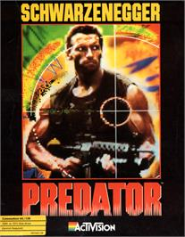 Box cover for Predator on the Commodore 64.