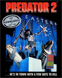 Box cover for Predator 2 on the Commodore 64.