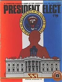 Box cover for President Elect on the Commodore 64.