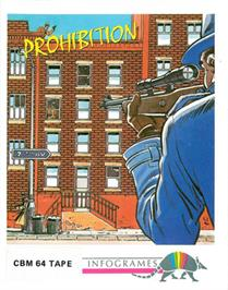 Box cover for Prohibition on the Commodore 64.