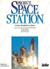 Box cover for Project: Space Station on the Commodore 64.