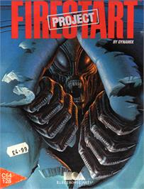 Box cover for Project Firestart on the Commodore 64.