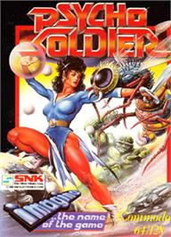 Box cover for Psycho Soldier on the Commodore 64.