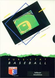 Box cover for Pure-Stat Baseball on the Commodore 64.