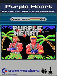 Box cover for Purple Heart on the Commodore 64.