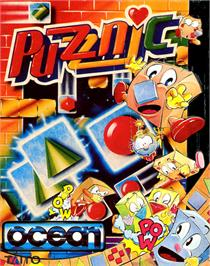 Box cover for Puzznic on the Commodore 64.