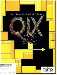 Box cover for QIX on the Commodore 64.