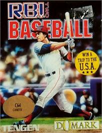 Box cover for RBI 2 Baseball on the Commodore 64.