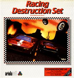 Box cover for Racing Destruction Set on the Commodore 64.