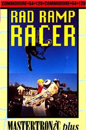 Box cover for Rad Ramp Racer on the Commodore 64.