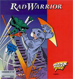 Box cover for Rad Warrior on the Commodore 64.
