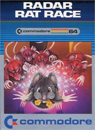 Box cover for Radar Rat Race on the Commodore 64.