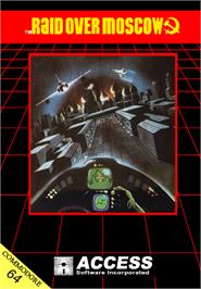 Box cover for Raid Over Moscow on the Commodore 64.