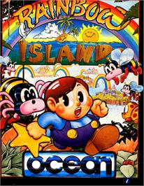 Box cover for Rainbow Islands on the Commodore 64.
