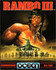 Box cover for Rambo III on the Commodore 64.