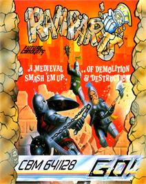 Box cover for Ramparts on the Commodore 64.