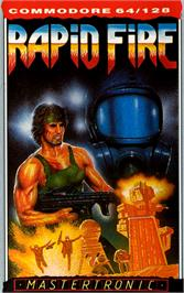 Box cover for Rapid Fire on the Commodore 64.