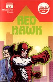 Box cover for Red Hawk on the Commodore 64.
