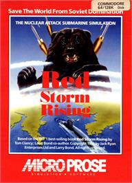 Box cover for Red Storm Rising on the Commodore 64.